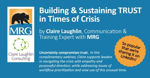 Webinar: Building & Sustaining Trust in a Time of Crisis