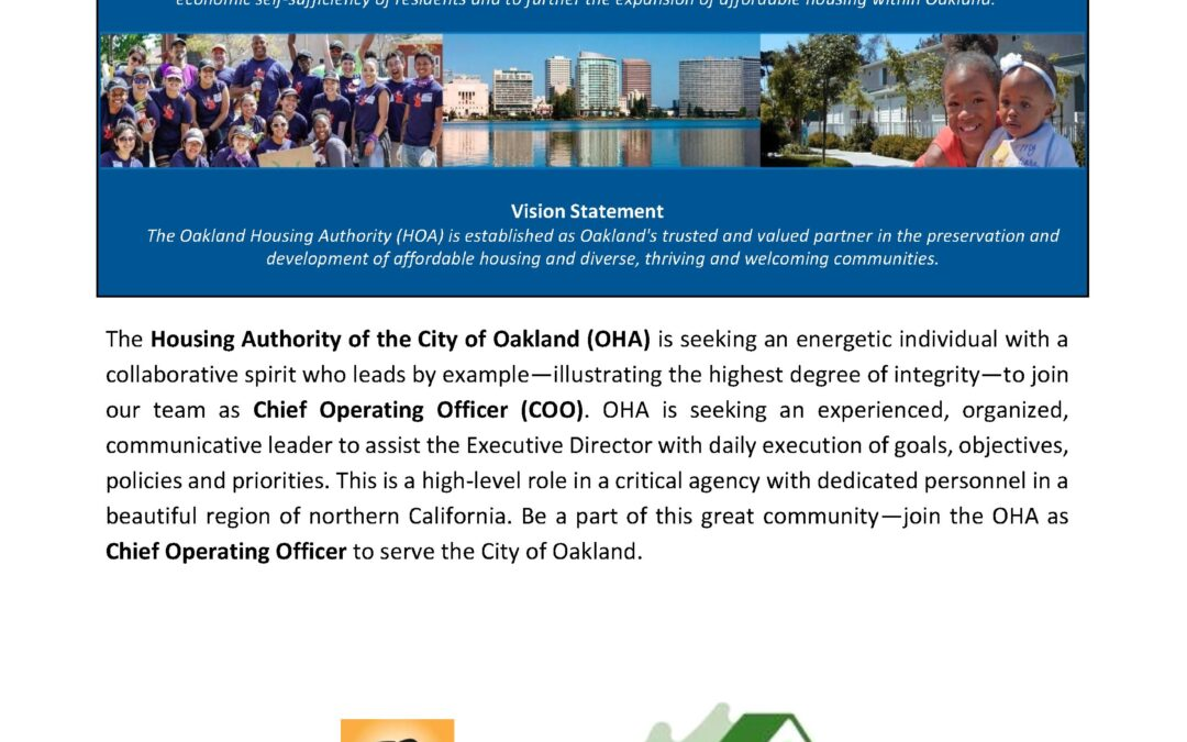 Recruitment: Chief Operating Officer